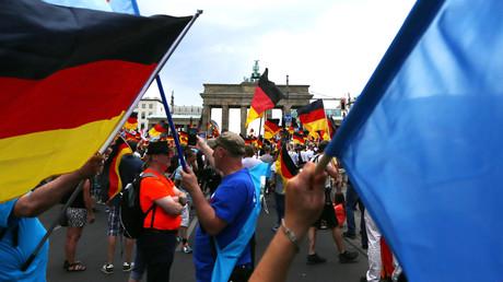 Manifestation anti-immigration le 27 mai 2018 à Berlin, menée par le parti de droite radicale l'AFD