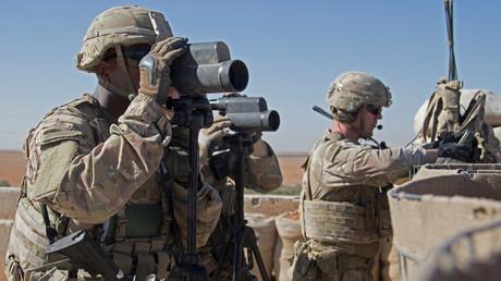 Des soldats américains en opération dans la région de Minbej, dans le nord de la Syrie, en novembre 2018.