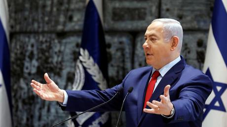 Le Premier ministre israélien Benjamin Netanyahu s'exprime lors d'une cérémonie, à Jérusalem le 24 décembre 2018.