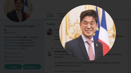 Compte Twitter du député de La République en marche (LREM) Joachim Son-Forget.