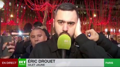 Eric Drouet en duplex le 26 décembre sur RT France