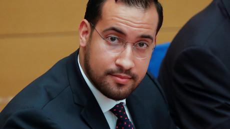 Alexandre Benalla le 19 septembre 2018 lors de son audition au Sénat.