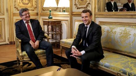Jean-Luc Mélenchon et Emmanuel Macron, «punchliner» de top niveau pour 2018