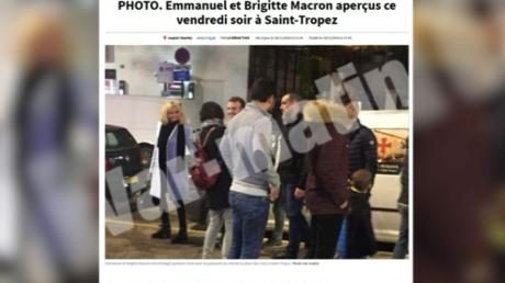 Emmanuel Macron et Brigitte Macron à Saint-Tropez.