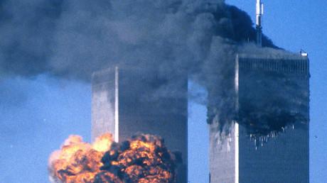 L'attaque des tours jumelles à New York, le 11 septembre 2001.