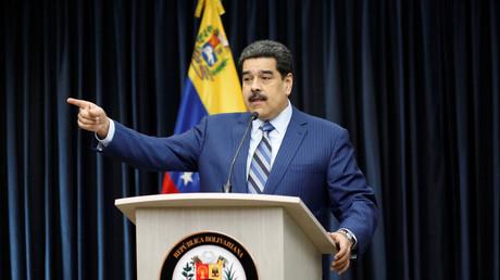 Le président vénézuélien Nicolas Maduro lors d'une conférence de presse au palais de Miraflores à Caracas, au Venezuela, le 12 décembre 2018.