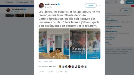 «Vendu» : les permanences de deux députés LREM vandalisées