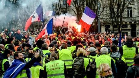 Rassemblement de Gilets jaunes à Lille, le 5 janvier.