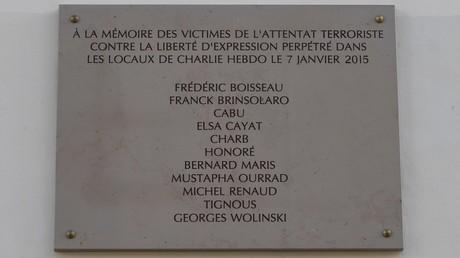 La plaque commémorative de l'attentat de Charlie Hebdo, le 5 janvier 2017 à Paris (image d'illustration).