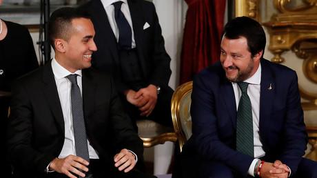 Luigi Di Maio et Matteo Salvini à Rome le 1er juin 2018 (image d'illustration).