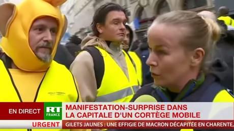 Une séquence du direct de la chaîne RT France, découpée et relayée sur YouTube.