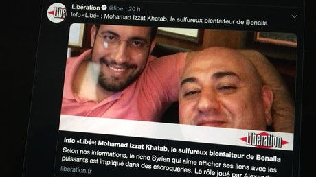 Alexandre Benalla et Mohamad Izzat Khatab, capture d'écran.