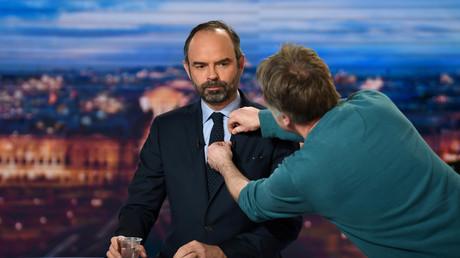 Le Premier ministre Edouard Philippe sur TF1, le 7 janvier 2019.