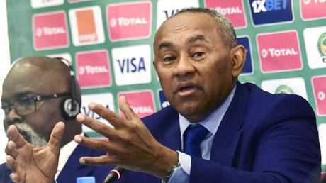 Le président de la Confédération africaine de football (CAF), Ahmad Ahmad a annoncé que l'Egypte serait l'hôte de la prochaine Coupe d'Afrique des Nations  (CAN), lors d'une conférence de presse tenue dans un hôtel de Dakar, le 8 janvier 2019.