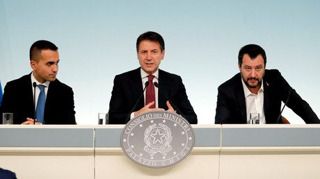 Luigi di Maio, Giuseppe Conte et Matteo Salvini.
