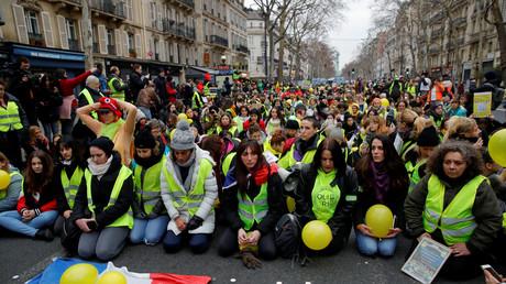 Des Gilets jaunes à Paris, le 6 janvier 2019 (image d'illustration).
