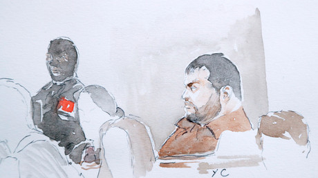 Mehdi Nemmouche au tribunal à Bruxelles, le 10 janvier 2019.