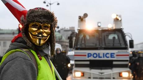 Lors de la mobilisation des Gilets jaunes, le 5 janvier 2019 à Paris (image d'illustration).