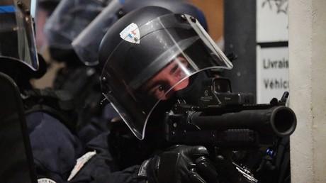Des policiers à Bordeaux lors de l'acte 9 (image d'illustration).