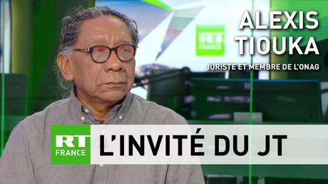 Le juriste Alexis Tiouka sur le plateau de RT France.