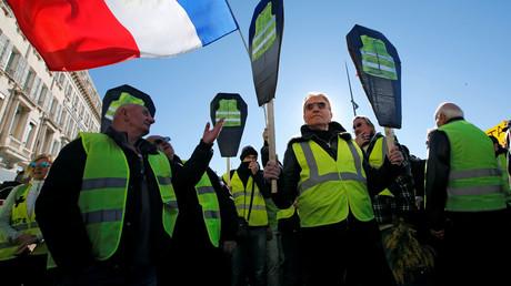 Des Gilets jaunes manifestent à Marseille, le 12 janvier 2019 (image d'illustration).