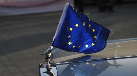 Un drapeau de l'Union européenne.