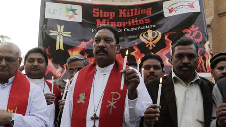 Manifestation contre les attaques terroristes visant les chrétiens à Peshawar au Pakistan le 18 mars 2015 (image d'illustration).