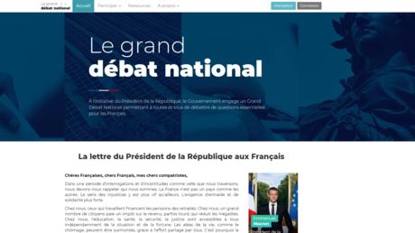 Le site officiel du grand débat national.