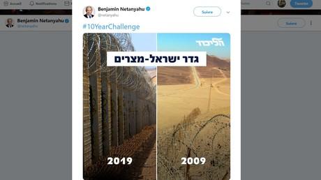 Le #10yearchallenge très politique de Benjamin Netanyahou