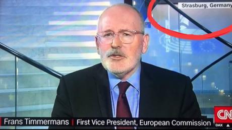 Duplex de la chaîne CNN le 16 janvier, comportant une petite erreur géographique.