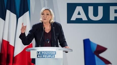 Marine Le Pen, le 19 janvier 2019 au Thors, près d'Avignon.