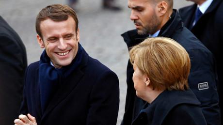 Emmanuel Macron et Angela Merkel, à Aix-la-Chapelle, le 22 janvier 2019.