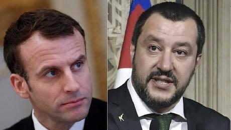 Emmanuel Macron et Matteo Salvini