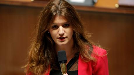 Marlène Schiappa prend la parole à l'Assemblée national, le 27 novembre 2018 (image d'illustration).