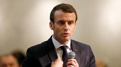 Emmanuel Macron lors du grand débat à Bourg-de-Péage le 24 janvier.