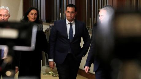 Alexandre Benalla le 21 janvier lors de son audition au Sénat.