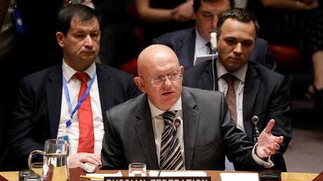 Vassily Nebenzia, le 26 janvier au Conseil de sécurité de l'ONU.