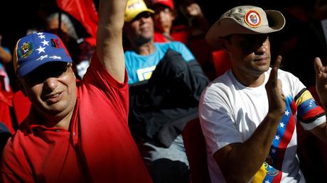 Manifestation de soutien à Nicolas Maduro à Caracas.
