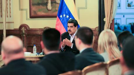Le président vénézuélien Nicolas Maduro au palais présidentiel Miraflores à Caracas le 28 janvier 2019.