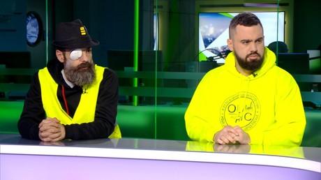 Les Gilets jaunes Eric Drouet et Jérôme Rodrigues sont les invités du journal télévisé de RT France ce 30 janvier.