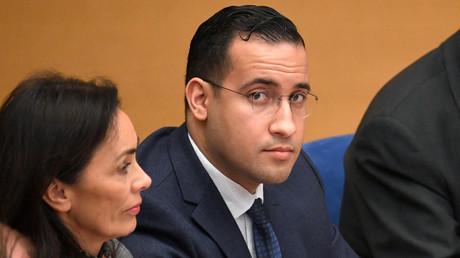 Alexandre Benalla en commission d'enquête au Sénat le 21 janvier 2019.