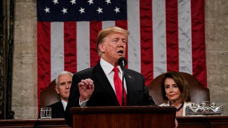Mur anti-immigration clandestine, crise politique au Venezuela : Trump s'adresse au Congrès