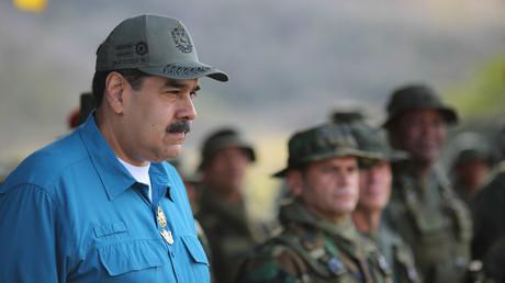 Nicolas Maduro assiste à un exercice militaire le 3 février à Turiamo (image d'illustration).