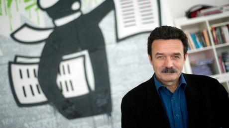 Edwy Plenel, le fondateur de Mediapart dans ses locaux en 2012 (image d'illustration).