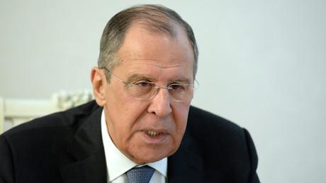 Le ministre des Affaires étrangères russe Sergueï Lavrov en déplacement à Bichkek au Kirghizistan le 4 février.