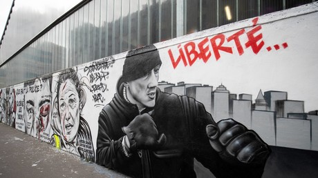 Une fresque en hommage à Christophe Dettinger, le 29 janvier 2019 à Paris (image d'illustration).
