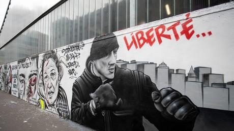 Une fresque en hommage à Christophe Dettinger, le 29 janvier 2019 à Paris (image d'illustration).