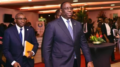 Le président du Sénégal, Macky Sall, assiste à l'ouverture du sommet UE-UA à Abidjan, le 29 novembre 2017.
