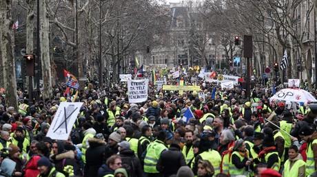 Manifestation des Gilets jaunes le 2 février 2019 à Paris (image d'illustration).