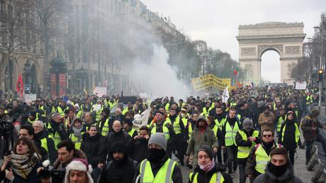L'acte 13 des Gilets jaunes à Paris, le 9 février.